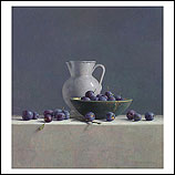 Still life with plums and Spanish…