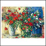 Rood bloemstilleven