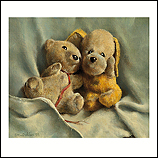 Worn out cuddly toys