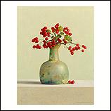 Hawthorn berries in roman glass