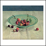 Cherries on a glass bowl
