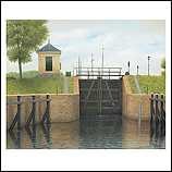 The Katerveer canal lock