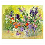 Purple flowers still life