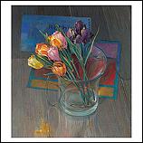 Vaas met tulpenlichtjes