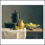 Still life with yellow pitcher an…