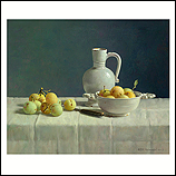 Delft white and plums