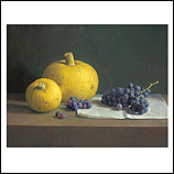 Stilleven met druiven en sierkale…