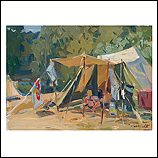Tent on a hot day