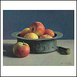 Koperen bak met appels