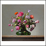 Flower still life with small tort…