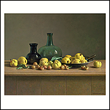Quinces and bottles