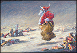 Santa's sack race