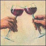 Kleine Rotwein Anstosser