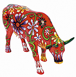Flower lover cow (large) Cow Para…