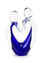Kristallen Object Hart Blauw (kle…