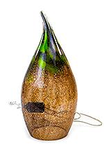 Glazen lamp Mauve Groen Druppel (…