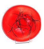 Glazen schaal rood