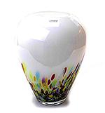 Glazen vaas wit multicolor (groot…