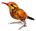 Glazen vogel oranje