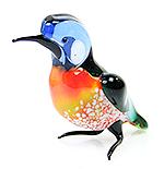 Glazen vogel ijvogel (zittend)