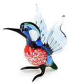 Glazen vogel ijsvogel (vliegend)