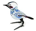 Glazen vogel blauw