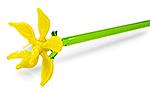 Glazen bloem geel