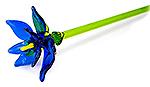Glazen bloem blauw