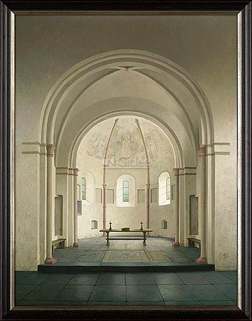 De absis van de romaanse kerk in Bozum
