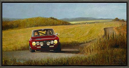 Alfa Romeo in Frans landschap