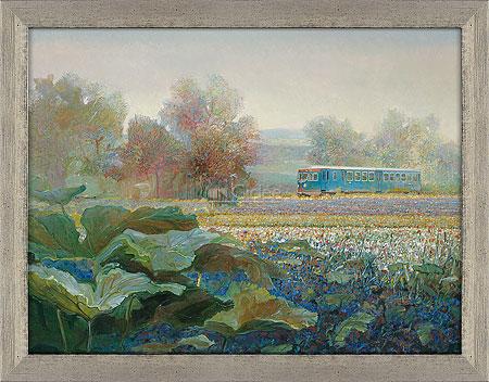 Blauwe Engel in Frans landschap