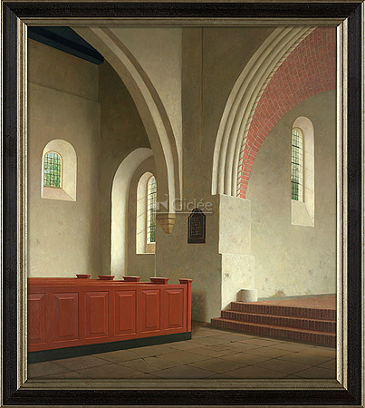 Interieur Donatuskerk te Leermens (1000-1400)