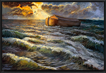 De ark op het water (Gen. 7)