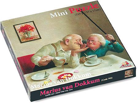 Puzzel 210 ministukjes, Liefde van één kant van kunstenaar Marius van Dokkum