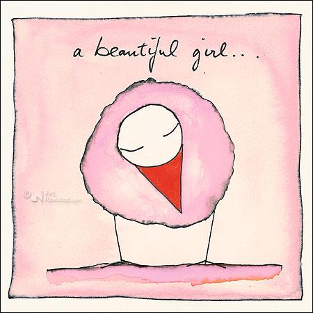 A beautiful girl...