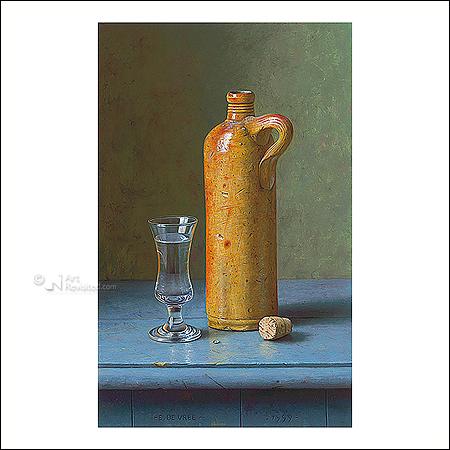 Dutch gin jar