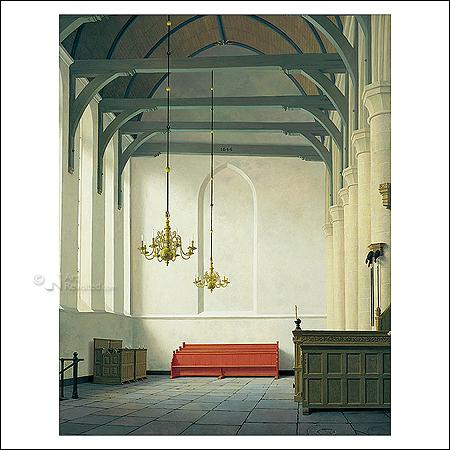 Interior St. Nicholas Church at Monnickendam
