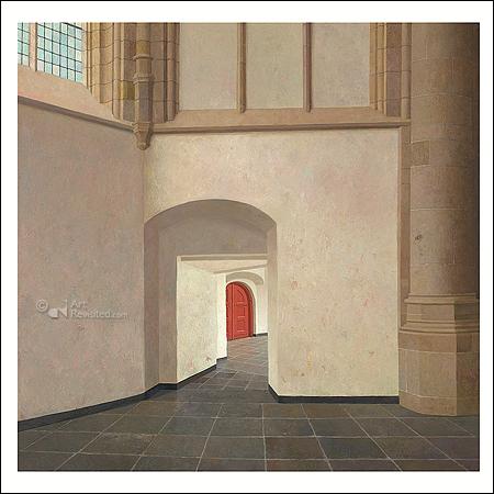The choir aisle of the Grote Kerk in Dordrecht