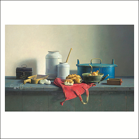 Still life with red bag