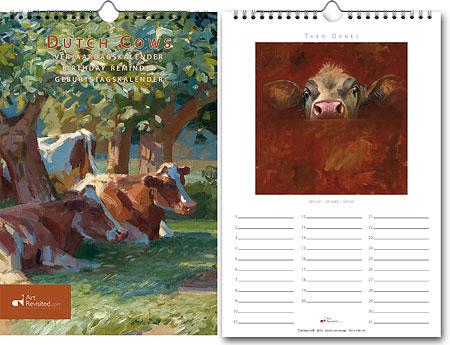 Birthday Reminder Dutch Cows