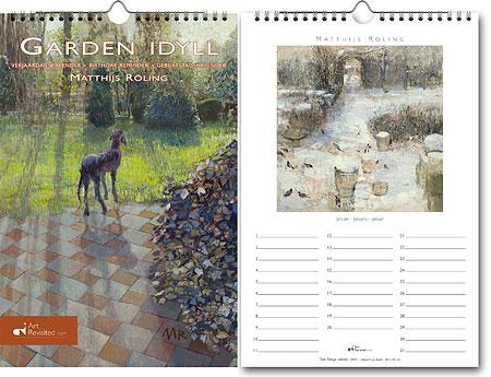 Geburtstagkalender Garten-Idylle, Matthijs Röling
