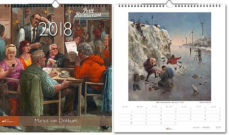 Jaarkalender 2018 Marius van Dokkum