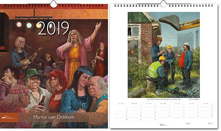 Jaarkalender 2019 Marius van Dokkum