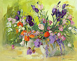 Paars bloemstilleven