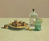 Still life with glassware and med…