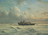 Veerboot MS 'Vlieland' in 't ijs