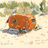 Touring caravan (detail)