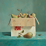 Box with pears