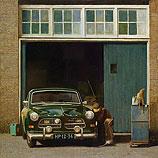 Volvo Amazone bij de garage