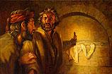 Petrus en Johannes in het lege gr…